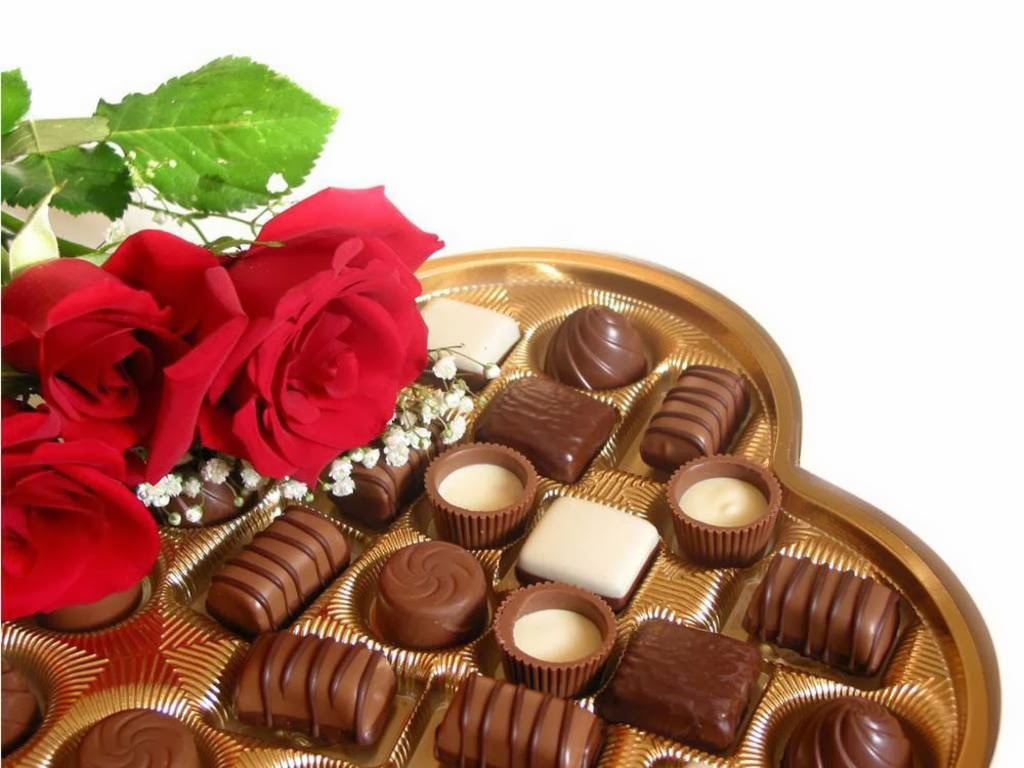 Chocolates and flowers computer wallpaper   High Definition Wallpapers 1024x768