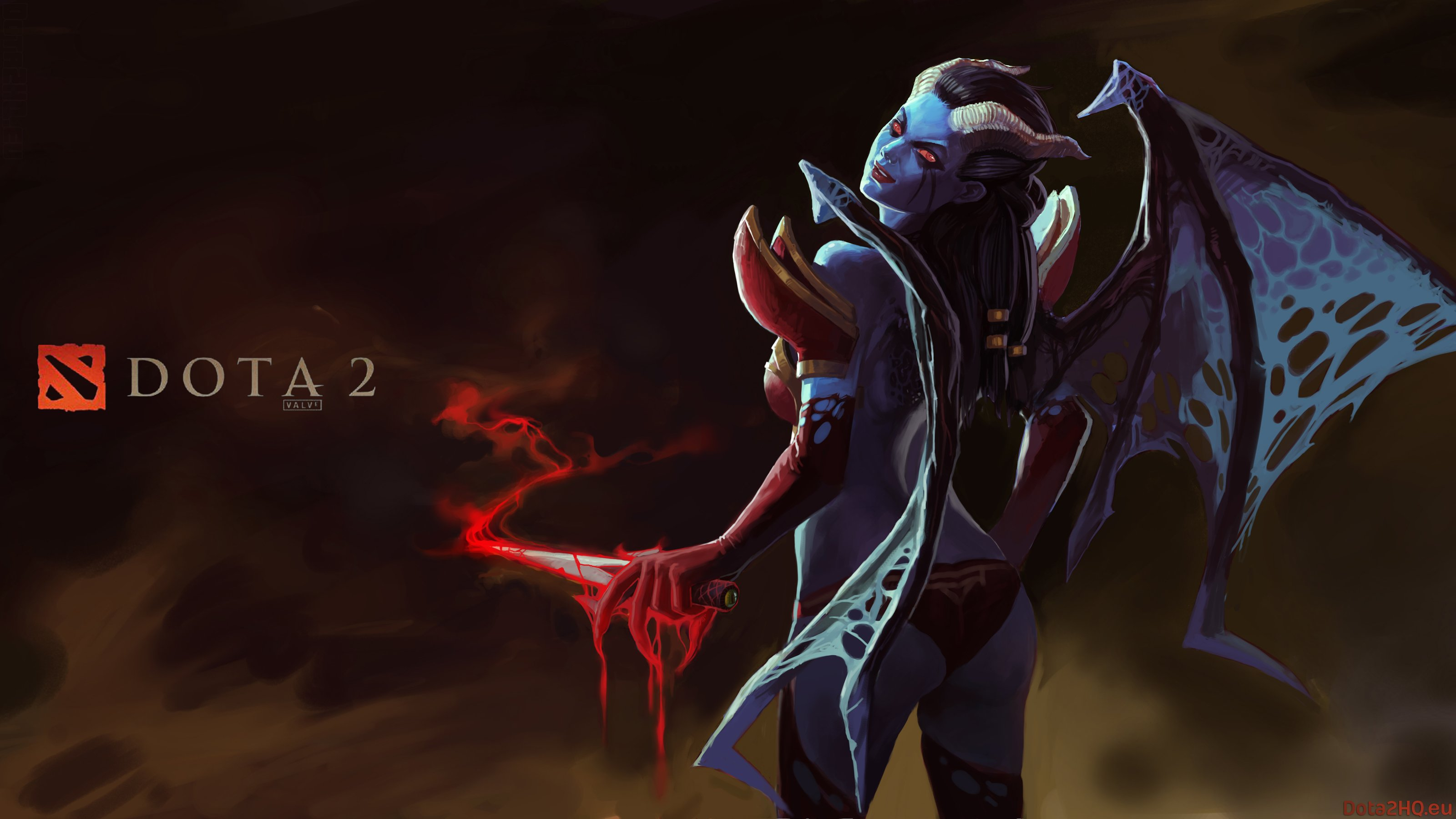 Akasha the Queen of Pain HQ Wallpaper   DOTA 2 Wallpapers 3200x1800