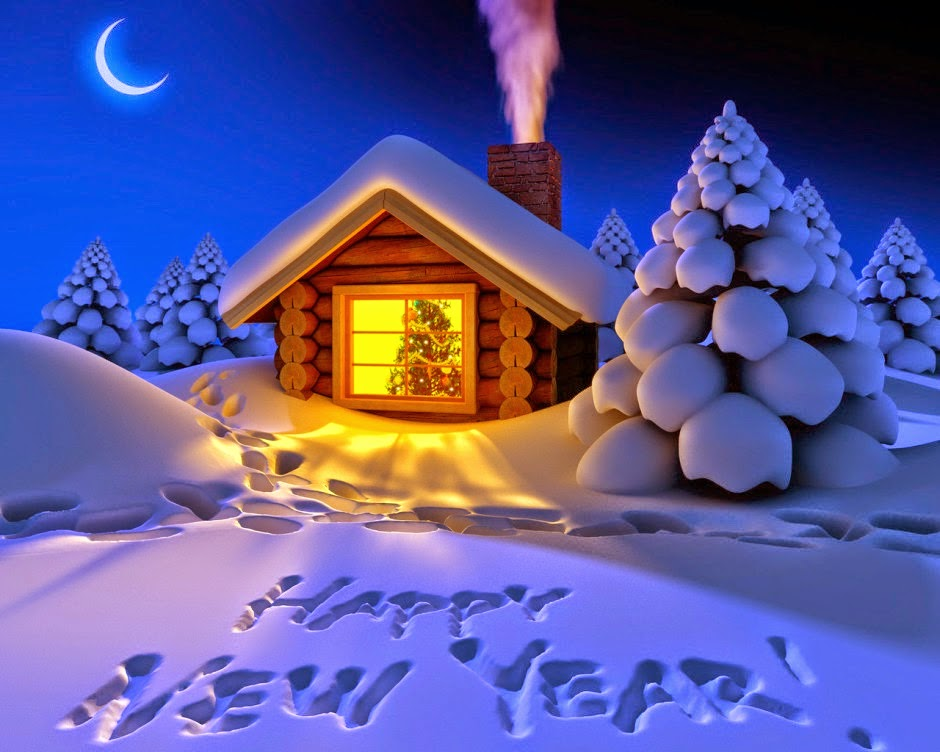 Happy New Year 2015 Snow Fall Night HD wallpaper   Telluride 940x752
