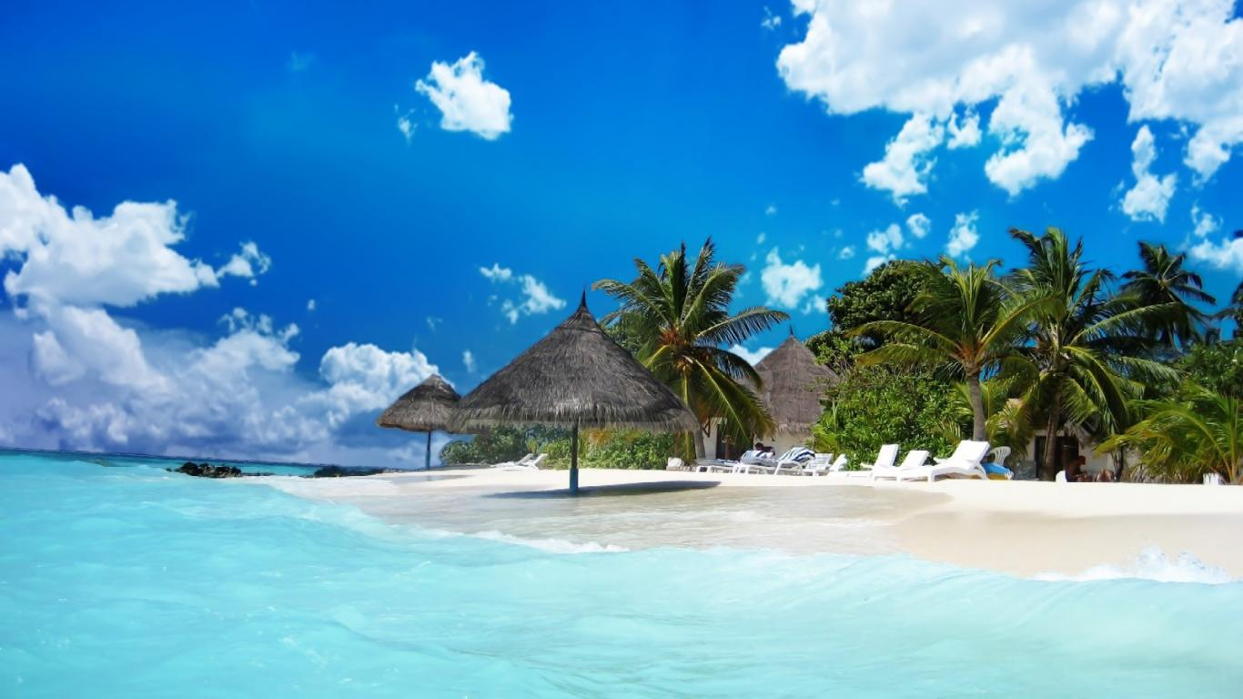 maldives beach wallpaper 13jpg 1366x768