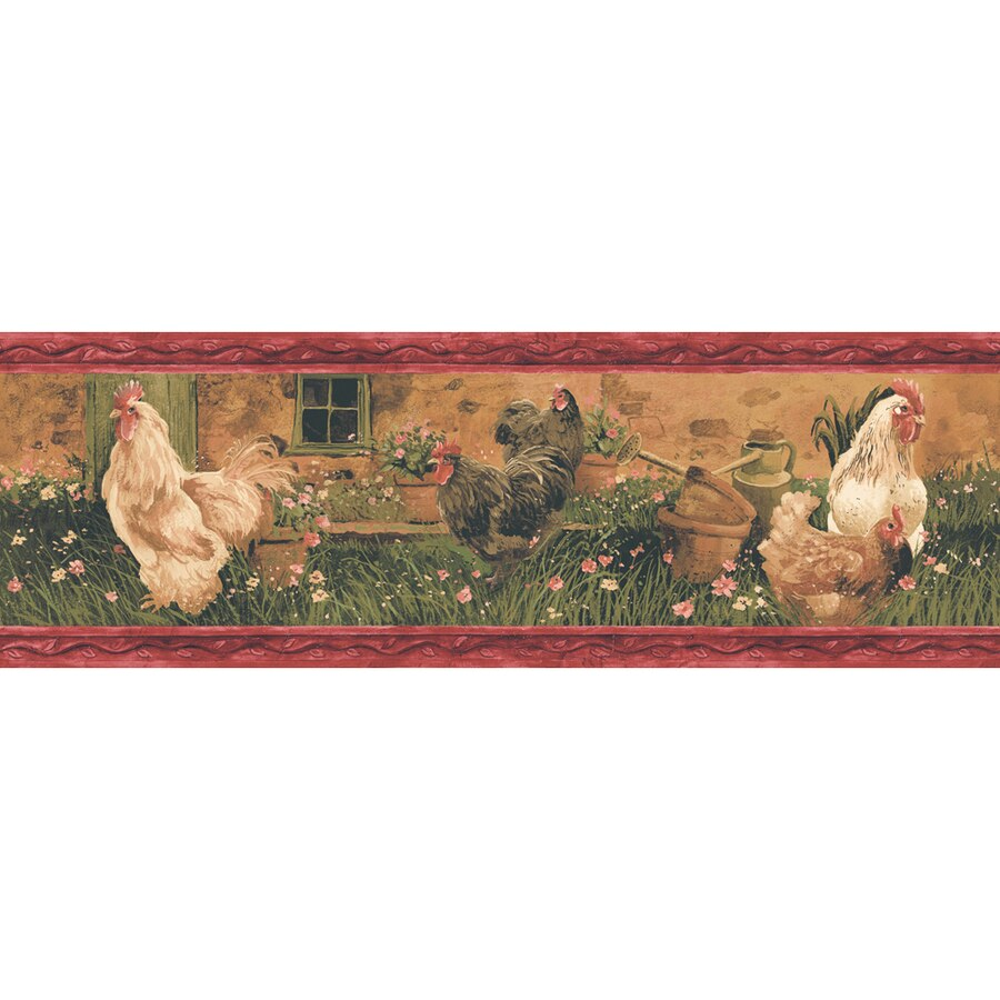 Allen roth 688 in Red Prepasted Wallpaper Border at Lowescom 900x900