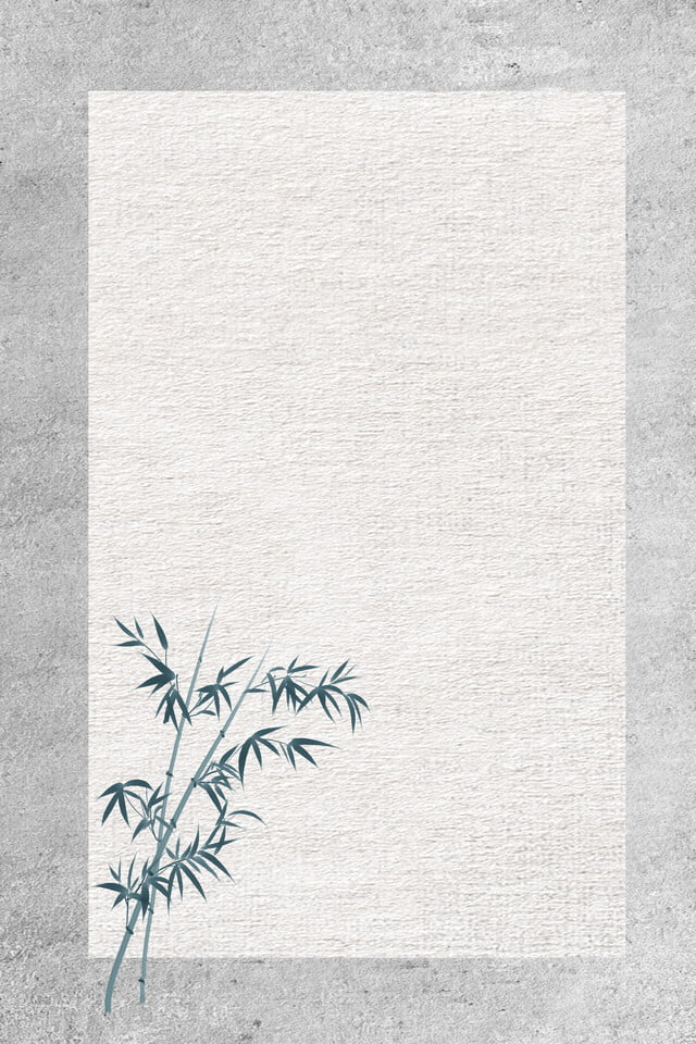 Chinese Style Simple And Fresh Bamboo Celebrity Quotes Poster 640x960