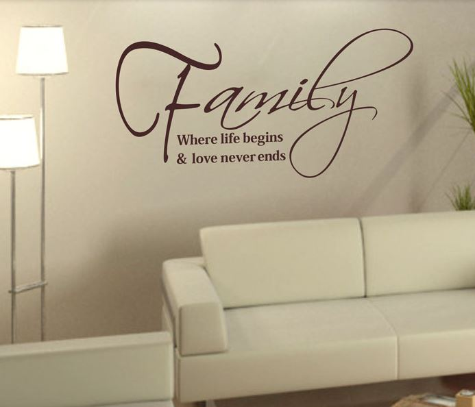 Family Peel and Stick Wall Stickers Decals Quotes FREE SHIPPING 693x594