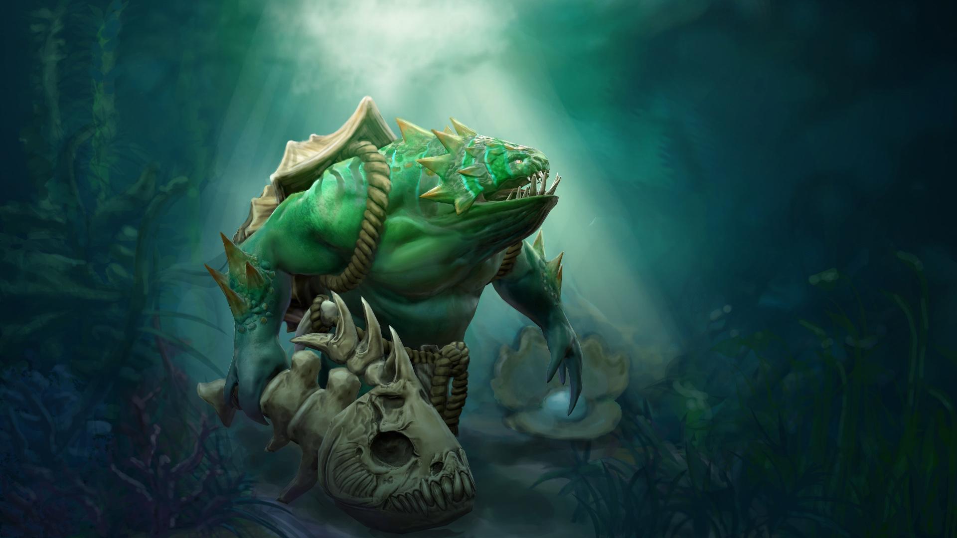 Wallpaper DOTA 2 Tidehunter monster Fantasy vdeo game 1920x1080 1920x1080