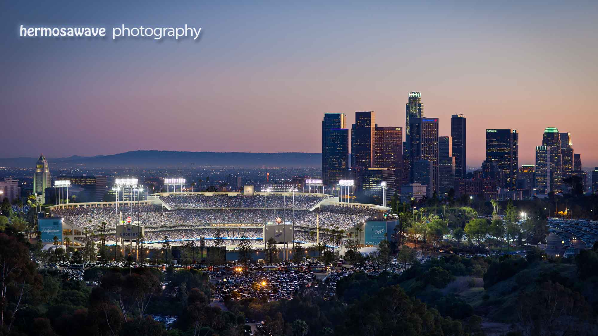 Dodger Stadium Wallpaper Downtown LA