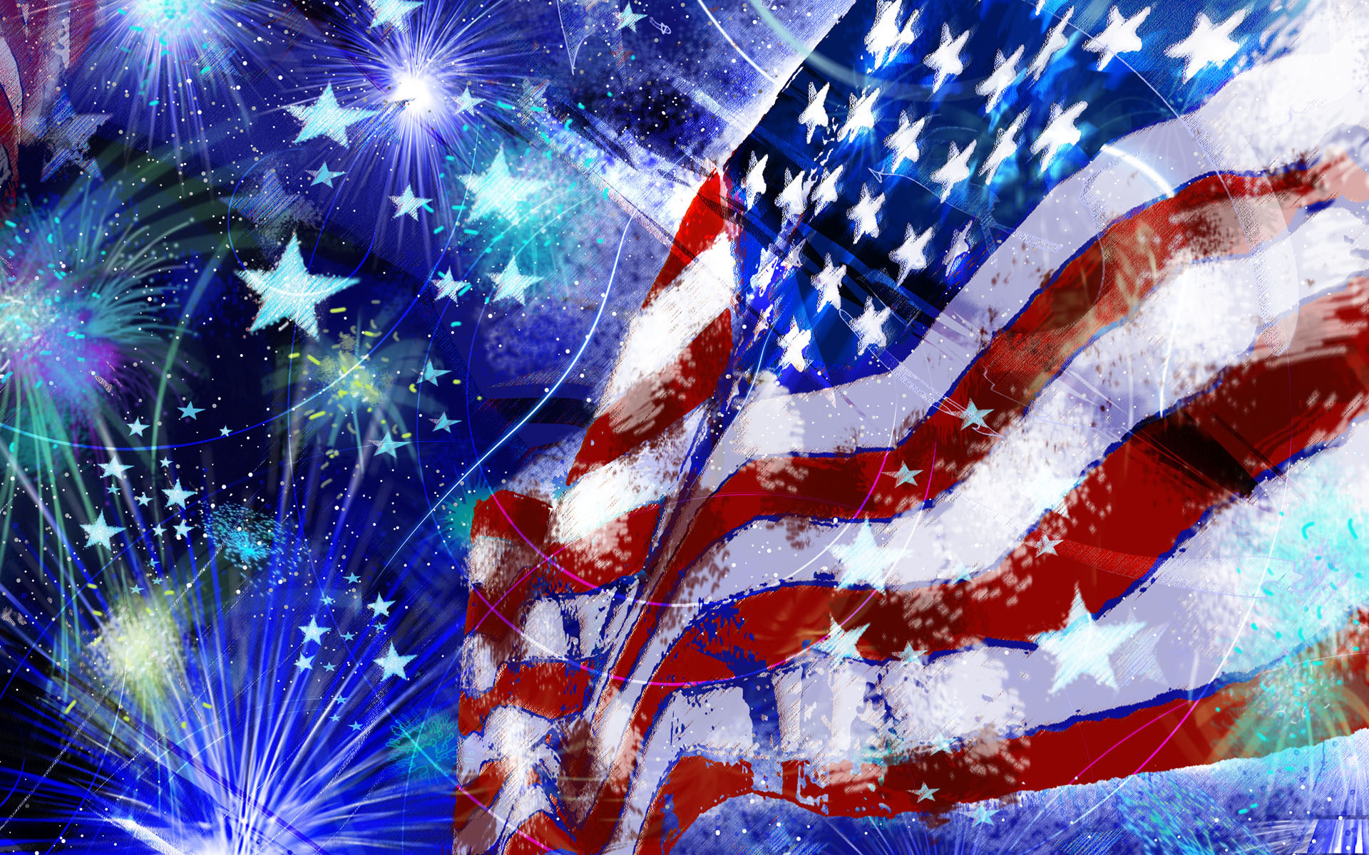 19201200 USA Independence Day illusration Wallpaper 1920x1200 NO 1920x1200