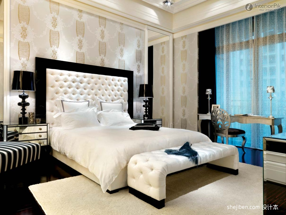 Effect picture of the latest modern master bedroom wallpaper 1200x900