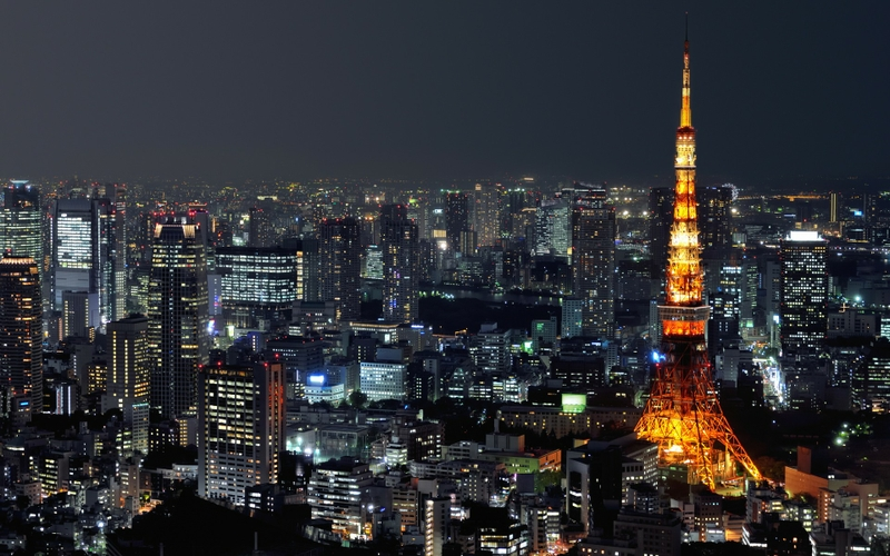 JapanTokyo japan tokyo cityscapes night lights scenic skyscapes 800x500