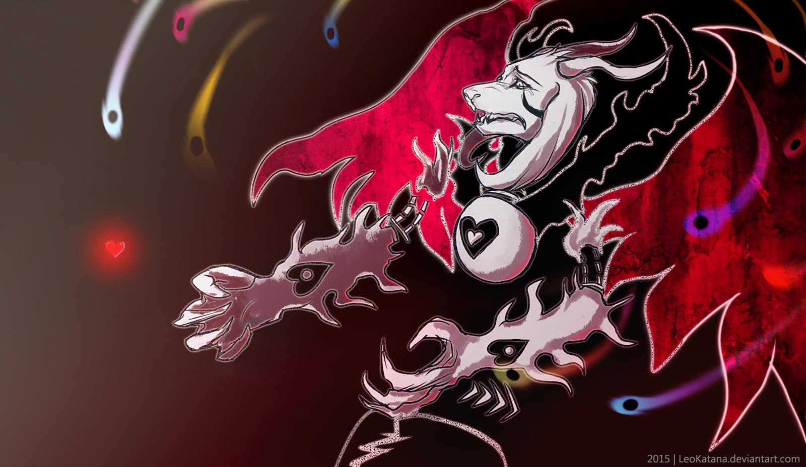 Undertale Asriel Dreemurr Demon mode by LeoKatana 1600x928