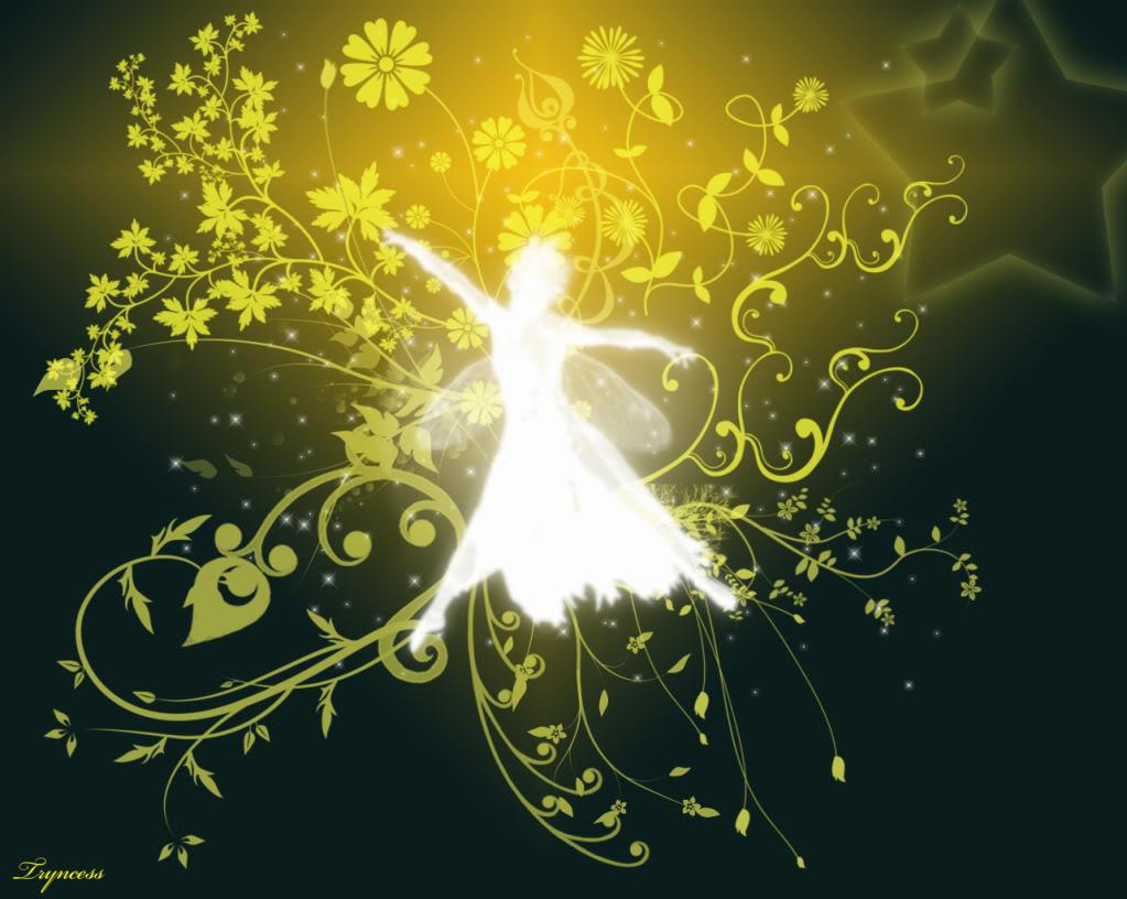 Gold Fairy Wallpaper Background Theme Desktop 1023x816