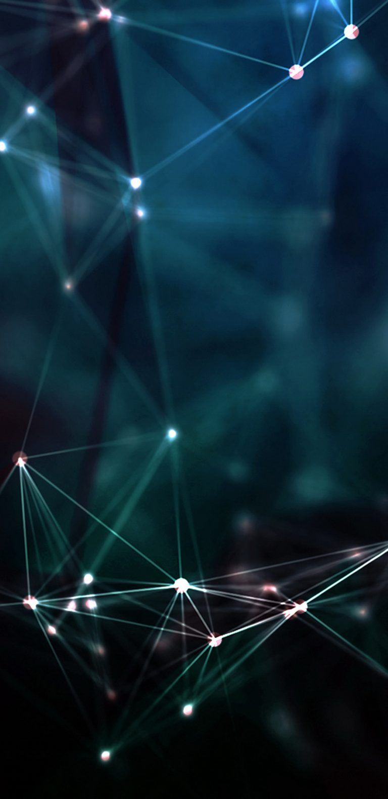 3D Dark Background with Lights for Samsung Galaxy S9 Wallpaper 768x1579