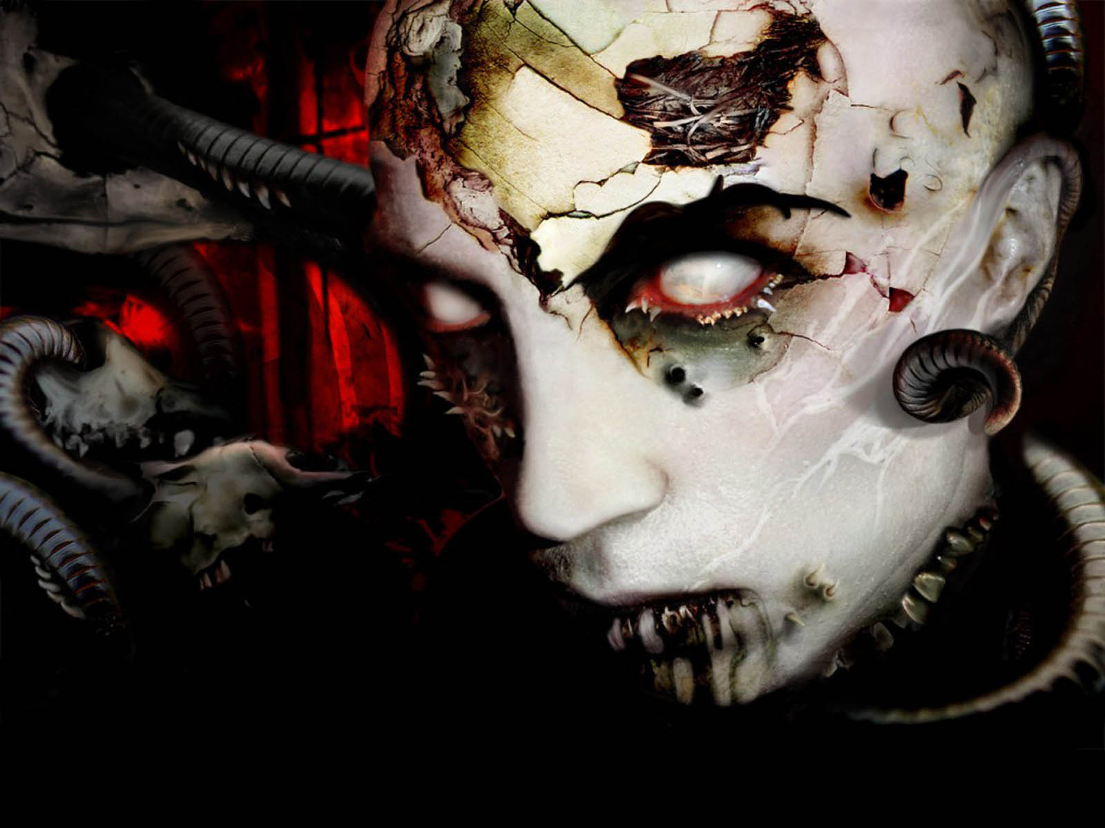 XS Wallpapers HD Scary Horror Wallpapers 1600x1200