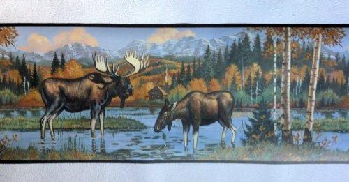 Moose Lodge Wallpaper Border   WL5607B 500x402