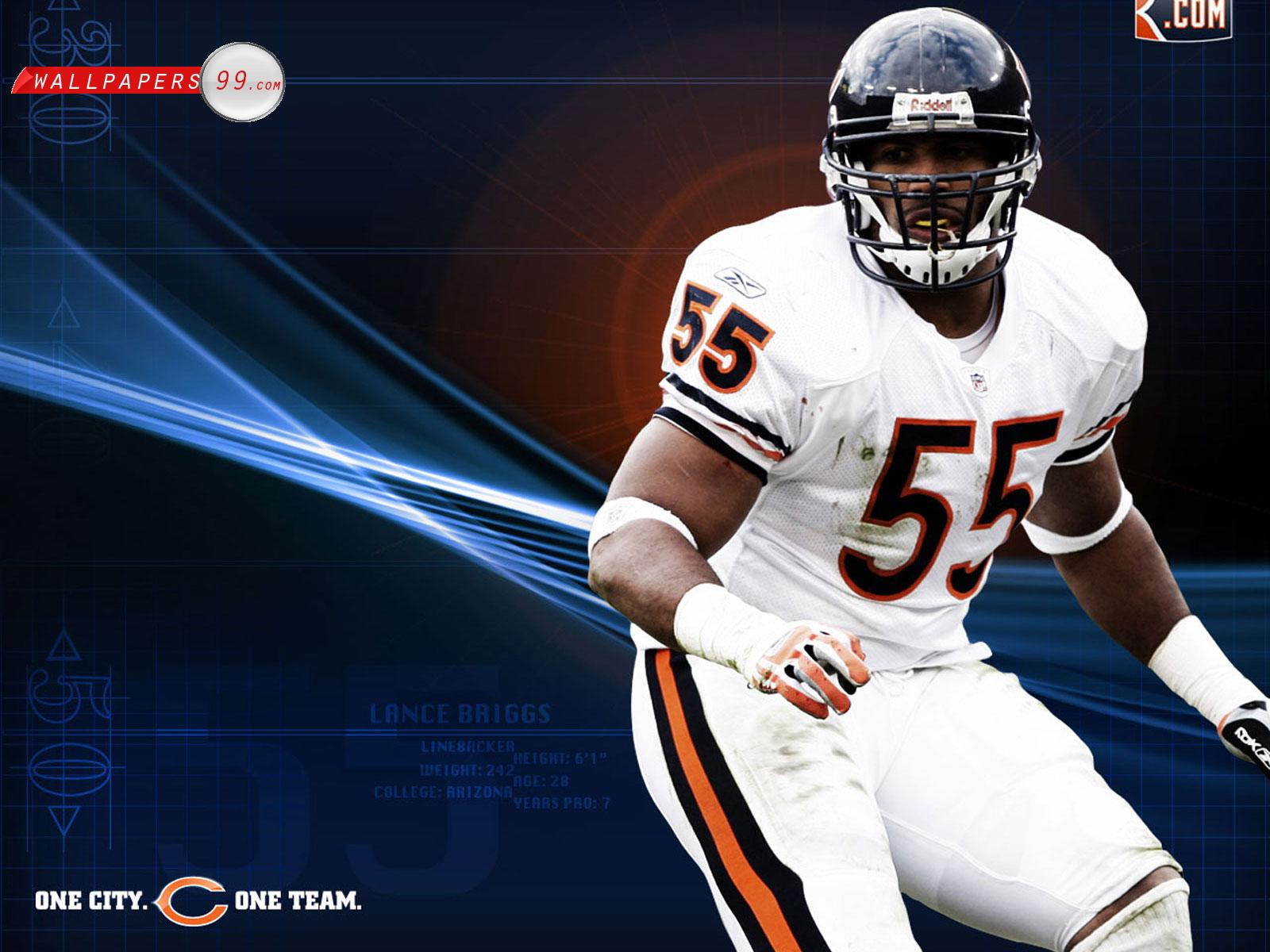 chicago bears 23977 12 13 2010 lance briggs wallpaper chicago bears 1600x1200
