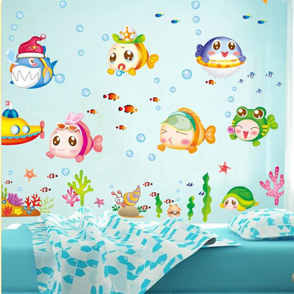 48 Fish Design Bathroom Wallpaper On Wallpapersafari