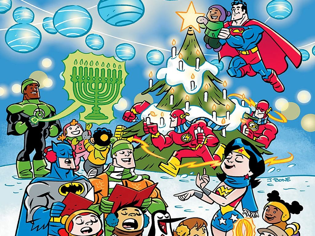 My Wallpapers   Comics Wallpaper DC Universe   Christmas 1024x768