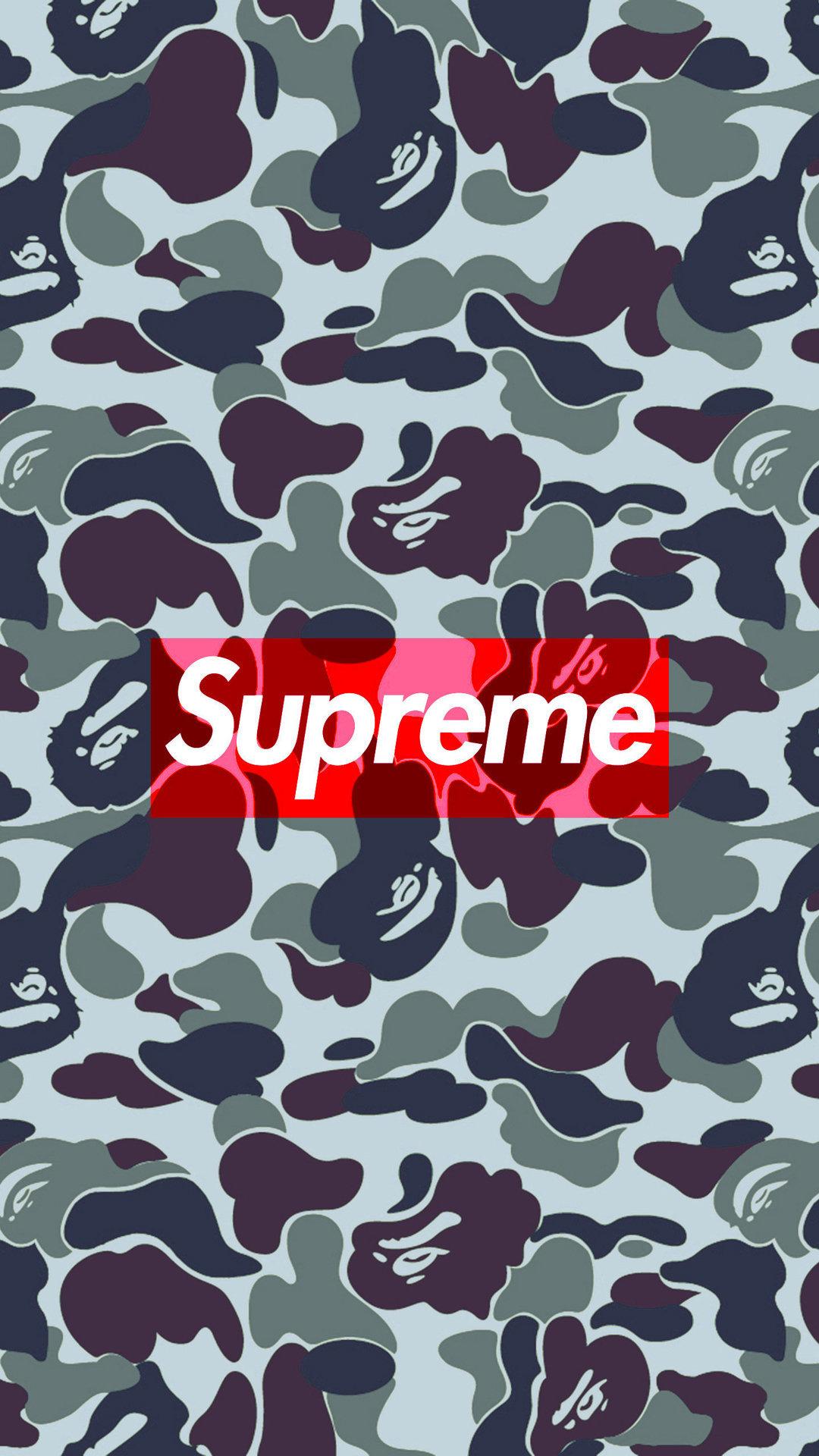 Bape Camo Supreme iPhone Wallpaper HD 1080x1920