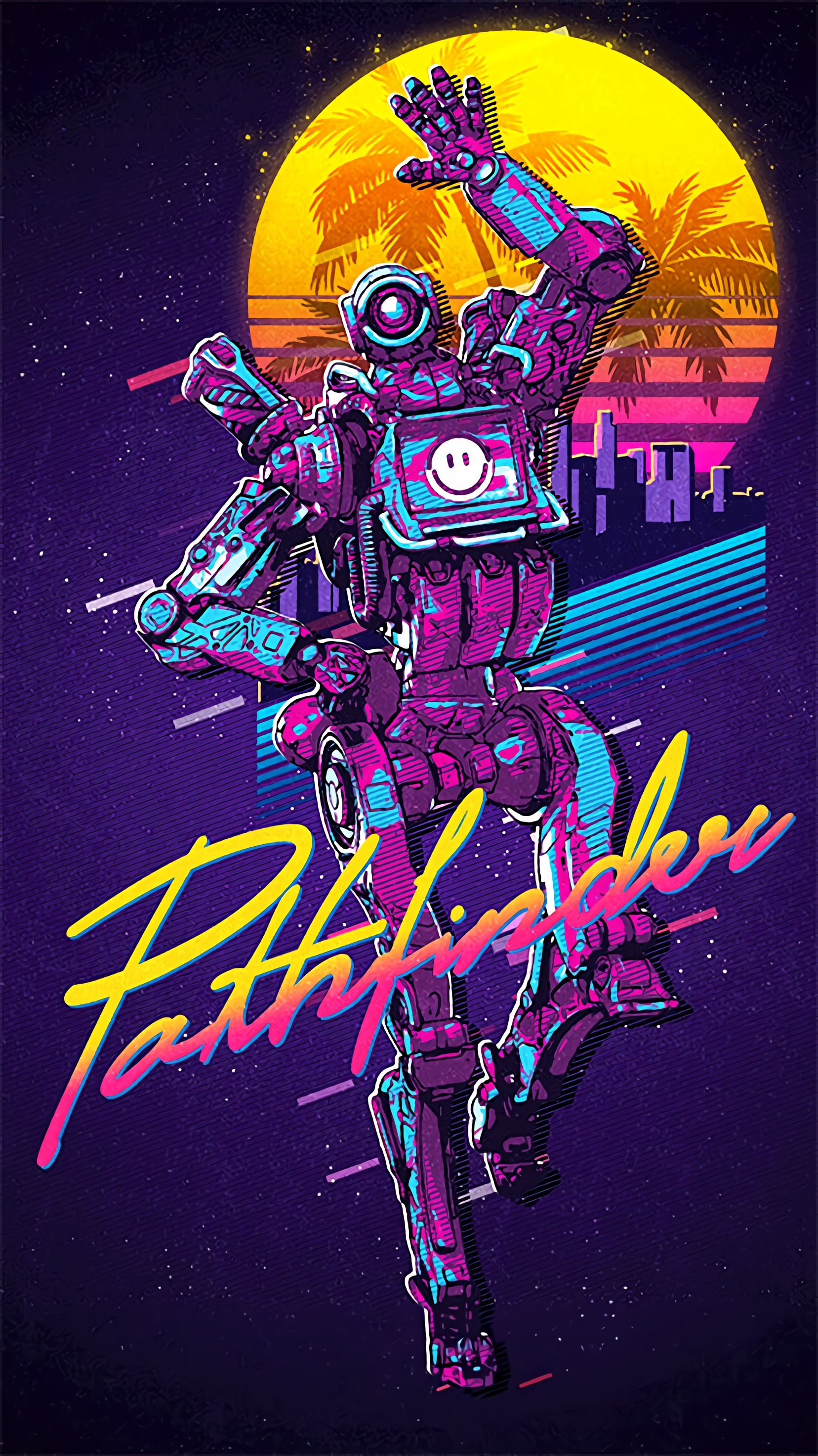 Phone background for you Pathfinder mains if you dig that 80s 1656x2944