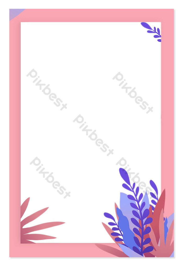 Sweet romantic flowers vector kanban background Backgrounds 700x1023