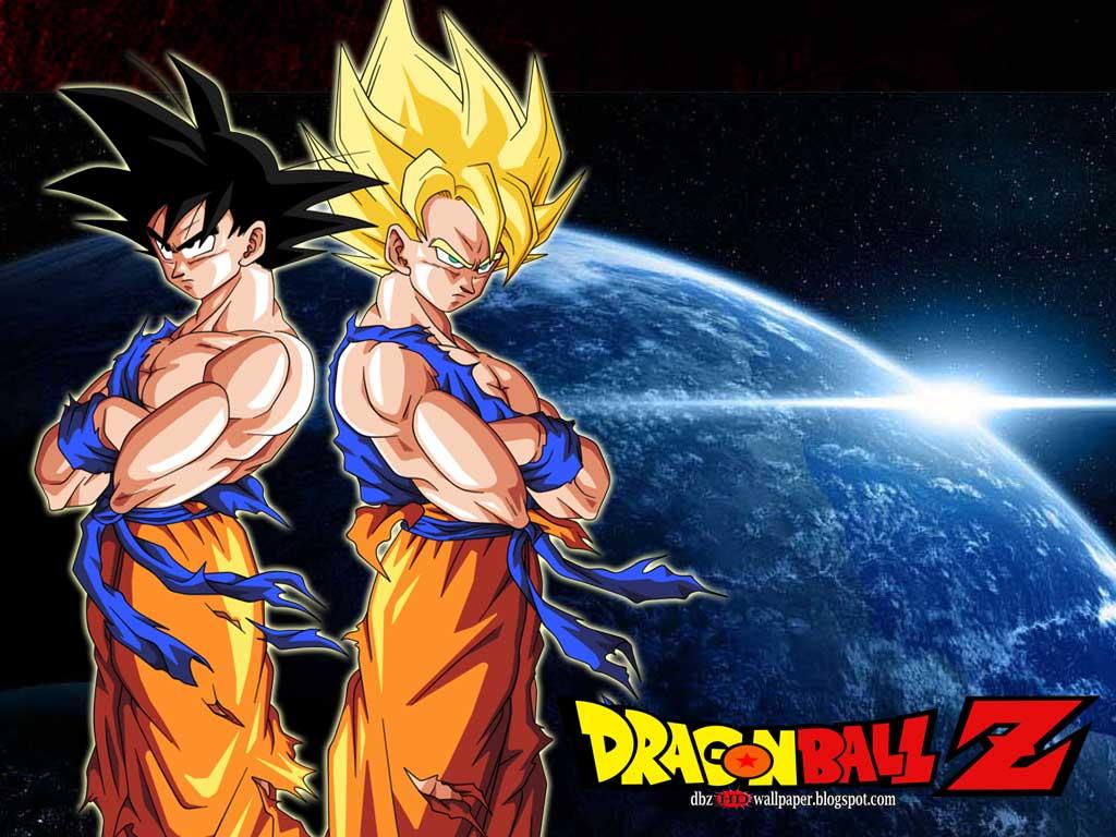 Goku Normal Mode and Super Saiyan   All About Dragon Ball Wallpapers 1024x768