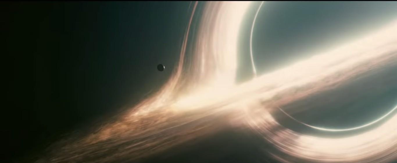 Photos interstellar black hole wallpaper 1366x563