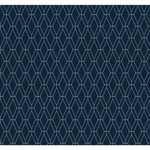 Lattice Wallpaper: Blue Lattice Wallpaper