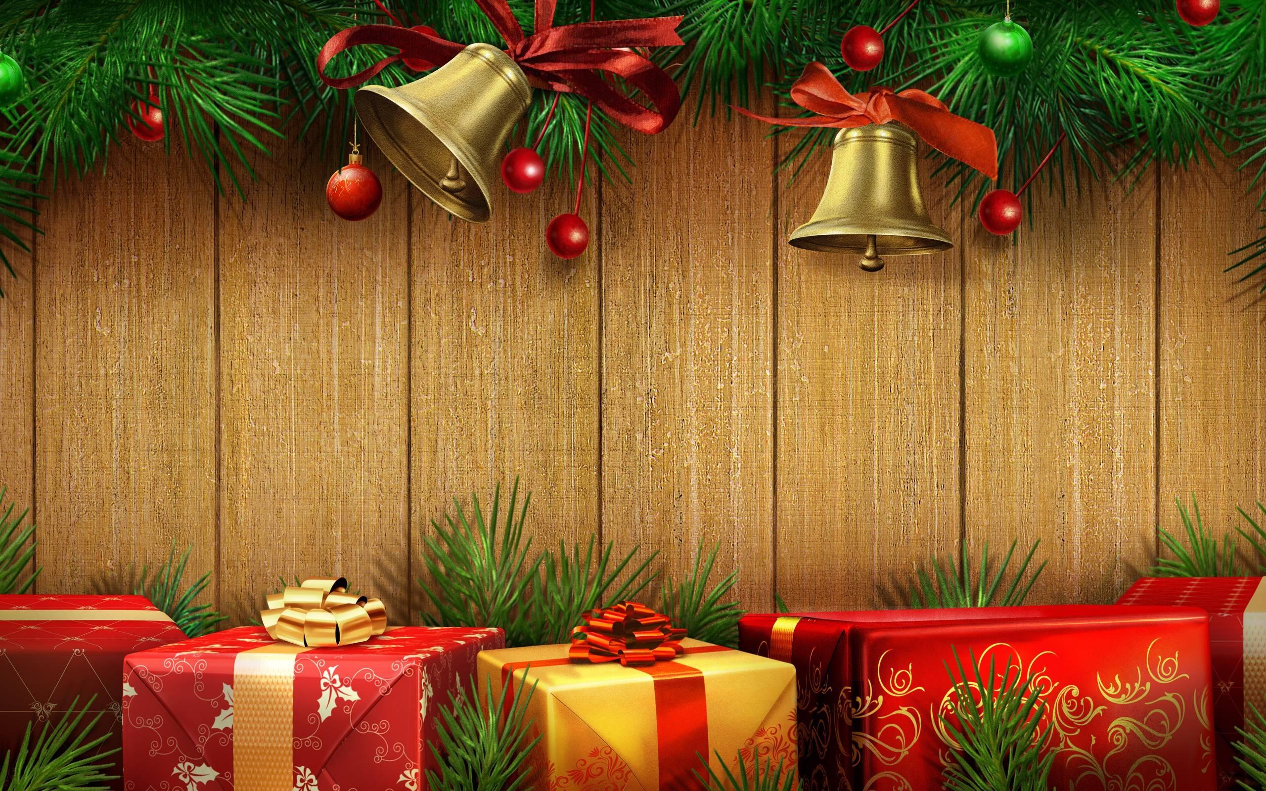 Christmas Gift Backgrounds 2560x1600