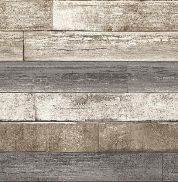 Weathered Plank Gray Wood Texture Wallpaper Swatch modern wallpaper 586x600