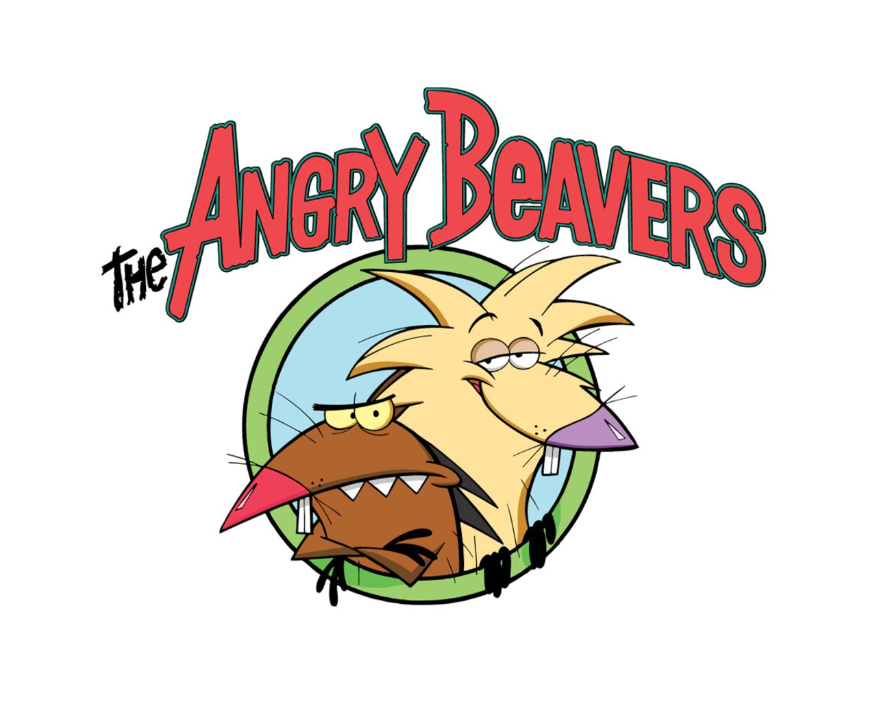 are viewing the The Angry Beavers wallpaper named The angry beavers 1280x1024