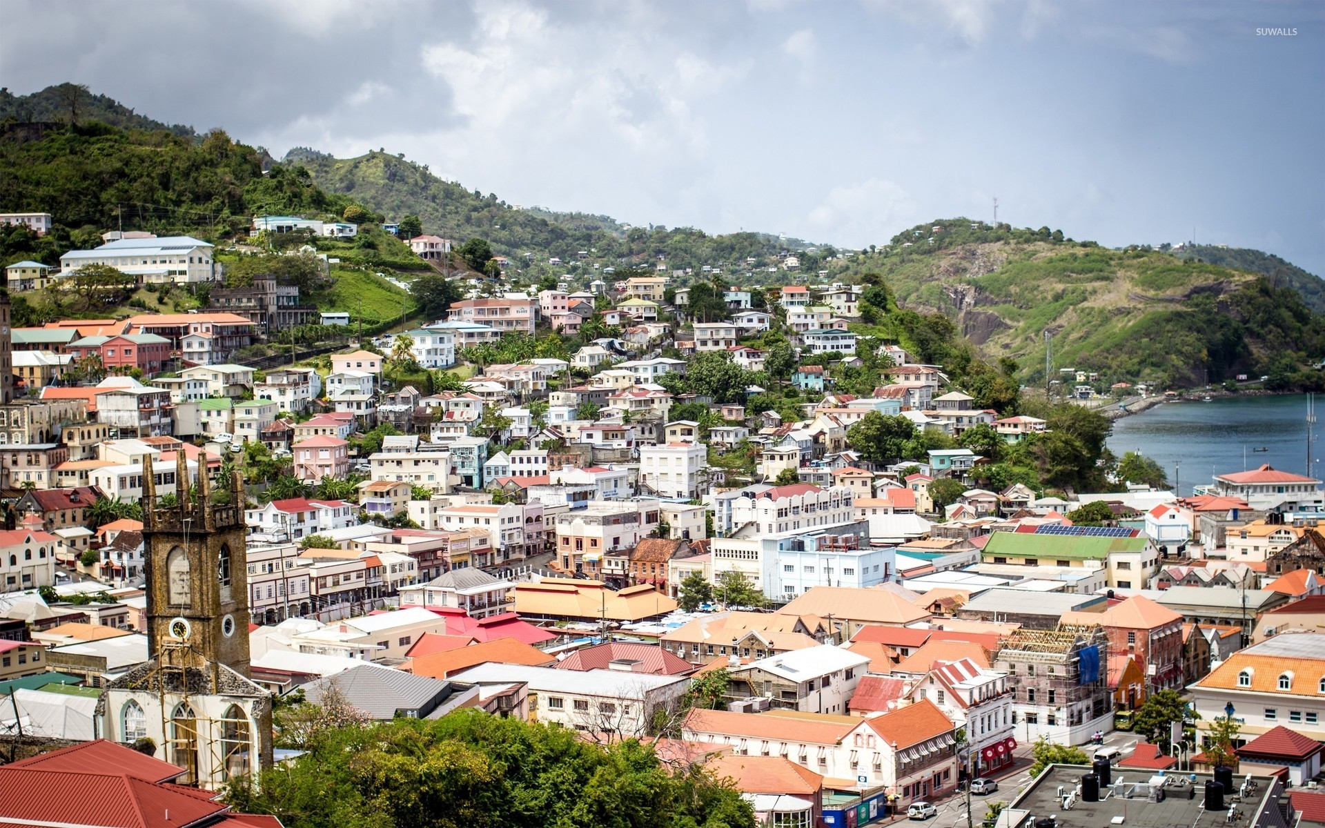 St Georges capital of Grenada wallpaper   World 1920x1200