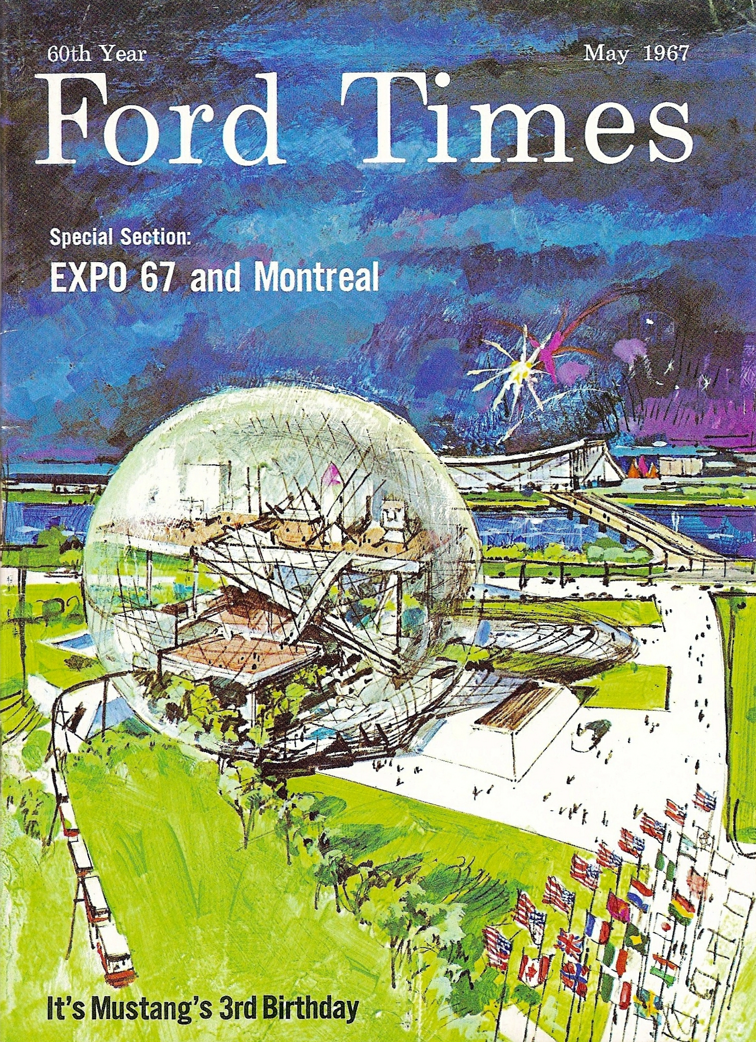 Montreals Expo 67 Ford Times cover May 1967 Ford Times background 1482x2044