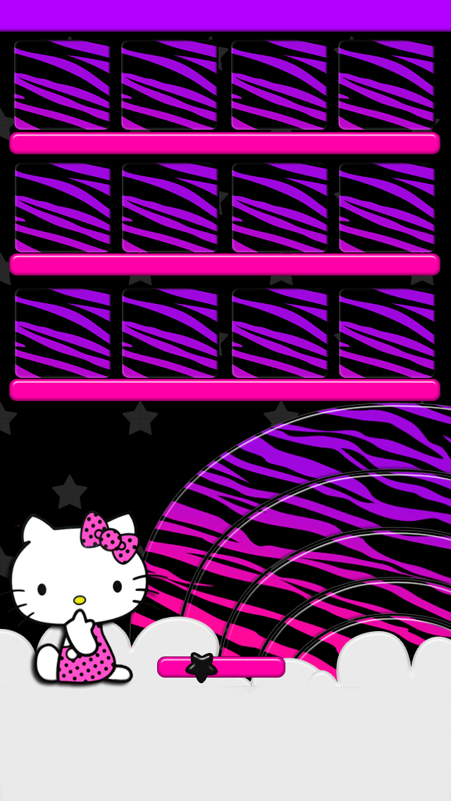 pink zebra hello kitty wallpaper