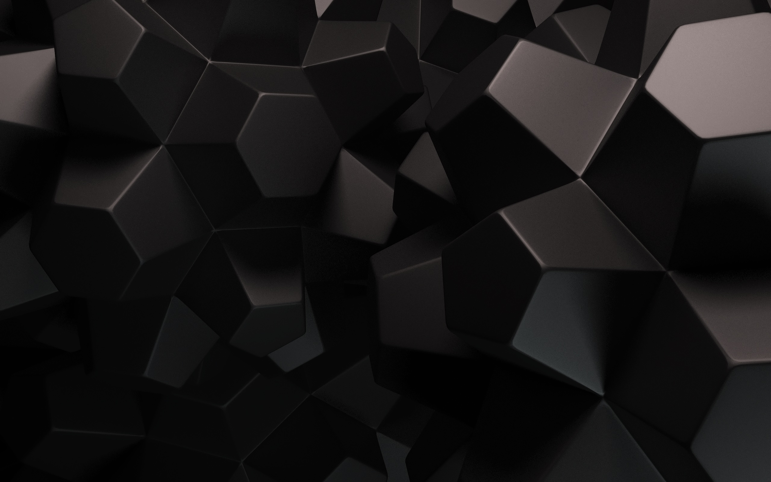 2560x1600 Abstract Black Shapes desktop PC and Mac wallpaper