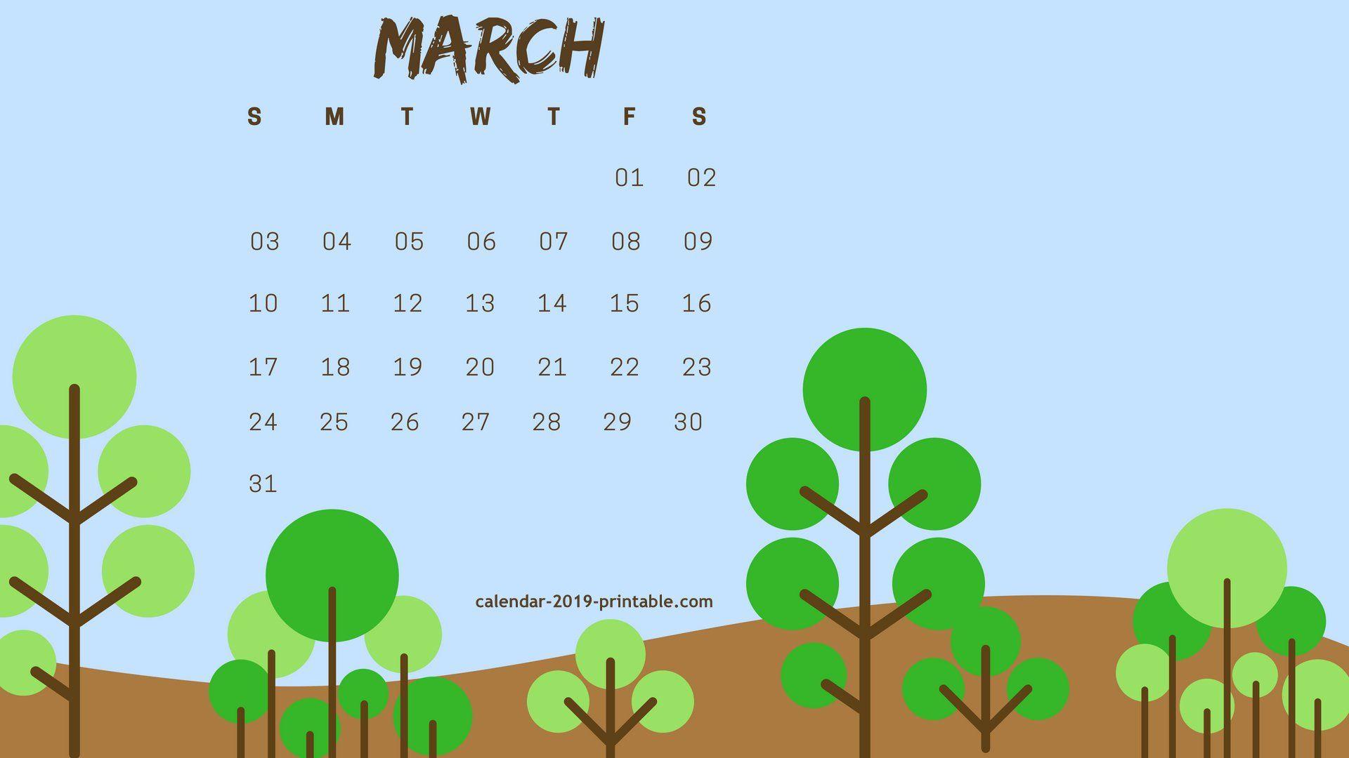 march 2019 hd wallpaper calendar Calendar 2019 Wallpapers 1920x1080