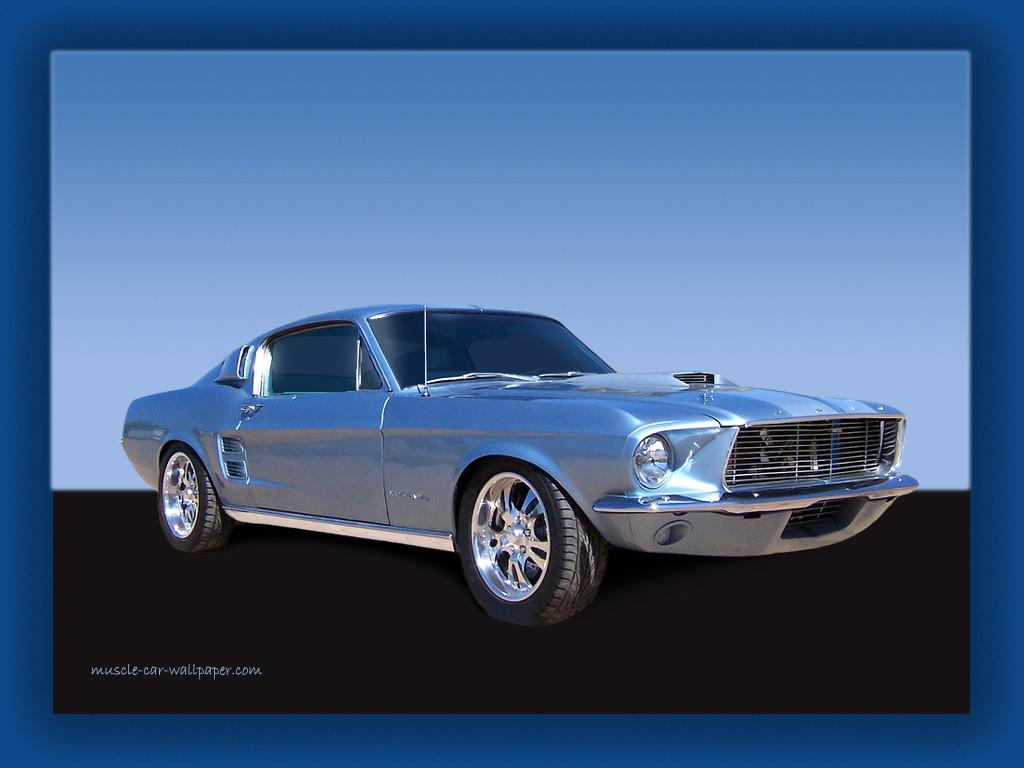 1967 Ford Mustang Fastback Wallpaper   Light Blue 1024x768
