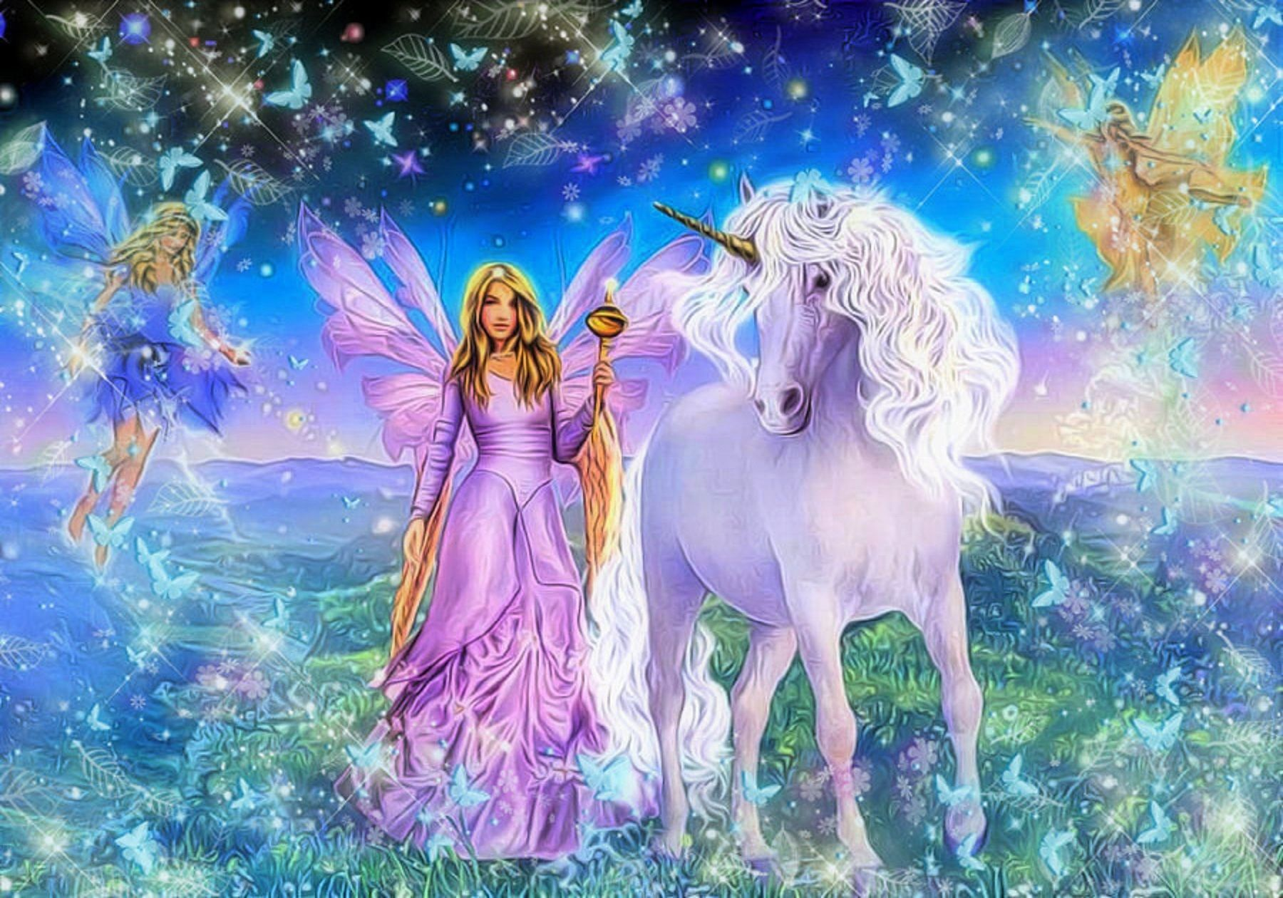 Rainbow Fairies Unicorn Painting Ideas