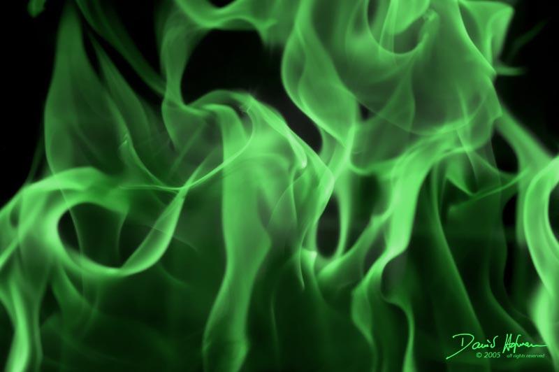 Green flame 800x532