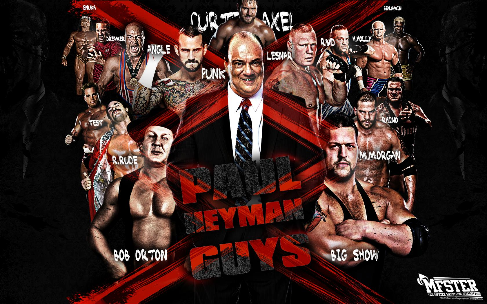 wrestling wallpapers made a wallpaper featuring some of paul heyman 1680x1050