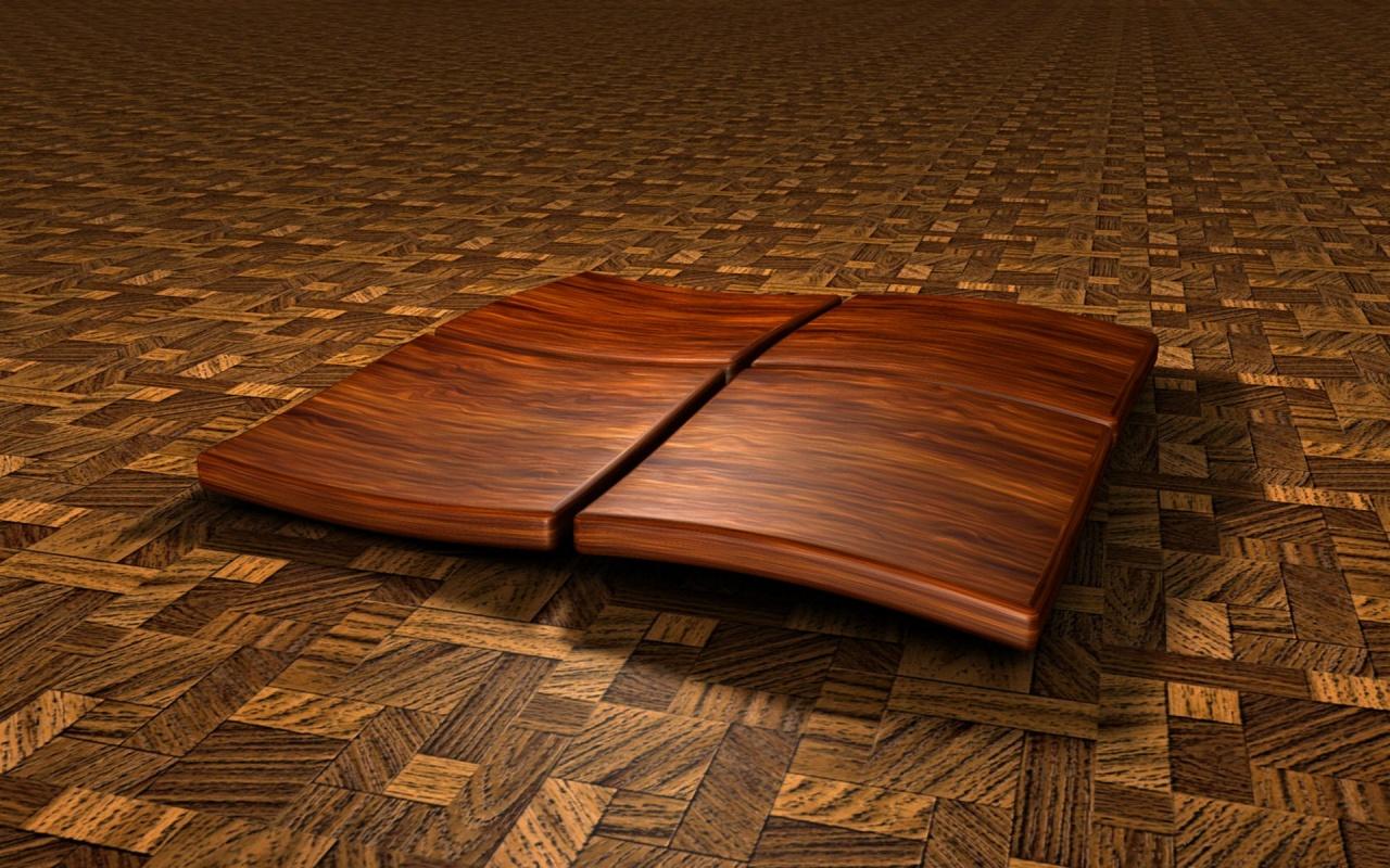 Windows 8 Wooden 3D Logo Wallpaper wallpapers x 1280x800