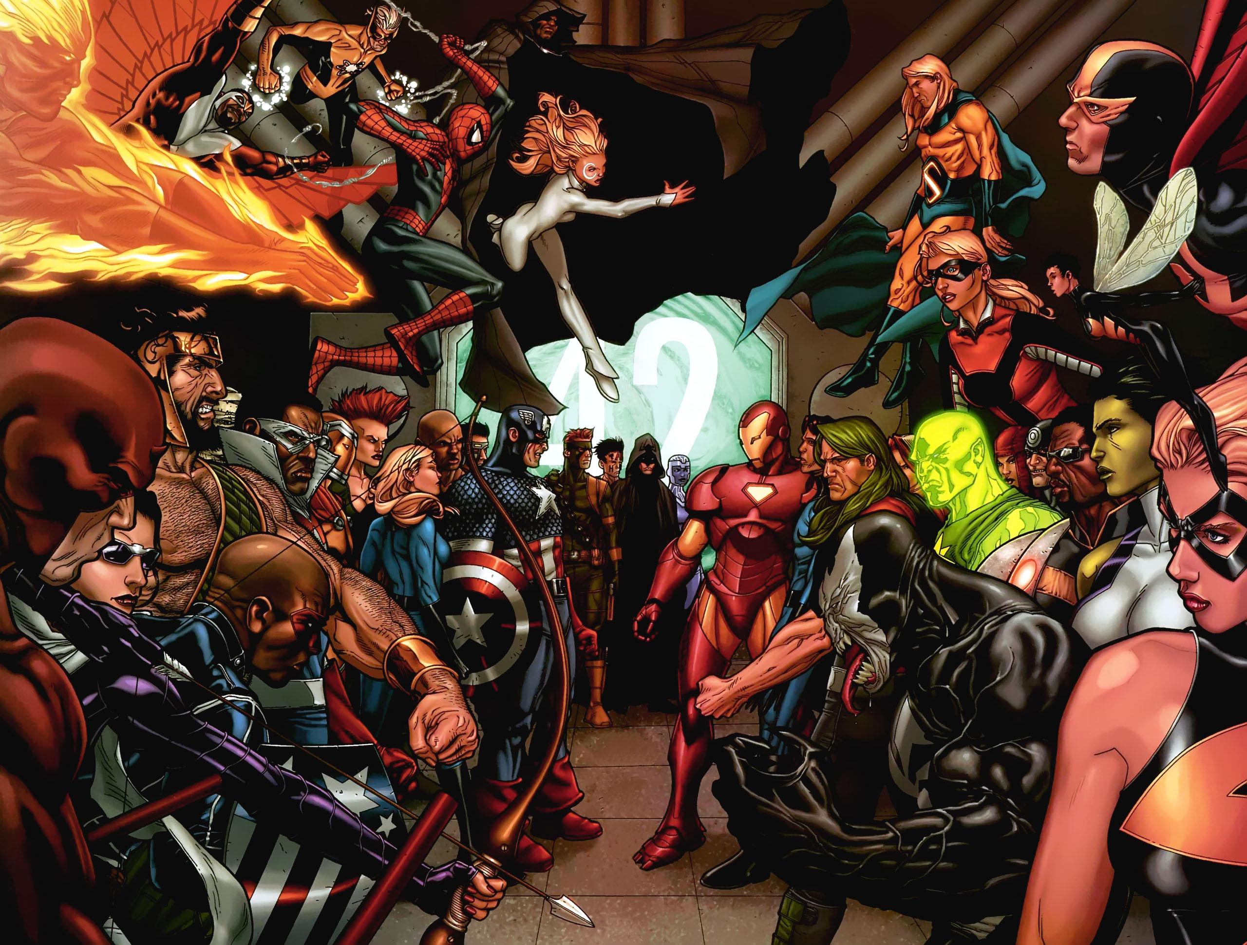 Civil War Face Off desktop wallpaper 2560x1940