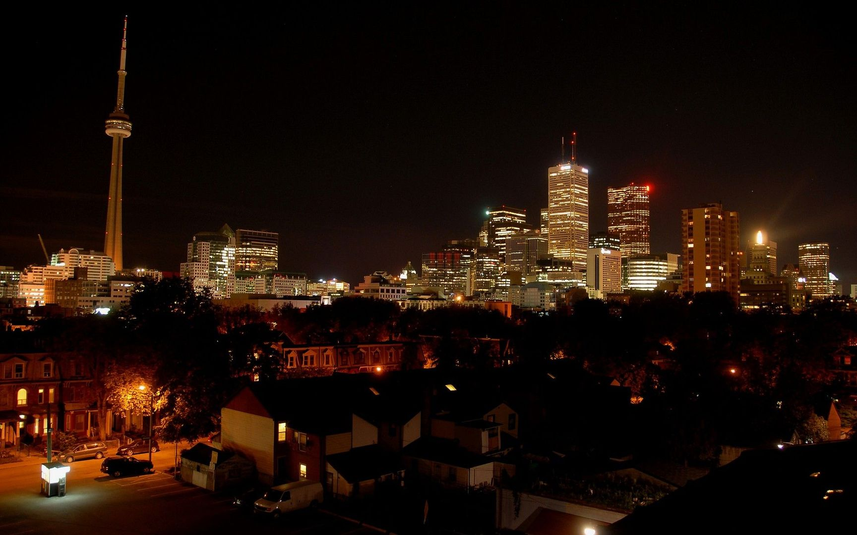 Download Toronto at night wallpaper 1728x1080
