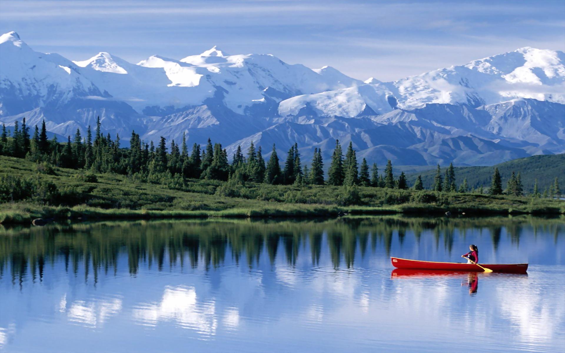 Wonder Lake Alaska   Around The World Photography Desktop Wallpapers 1920x1200