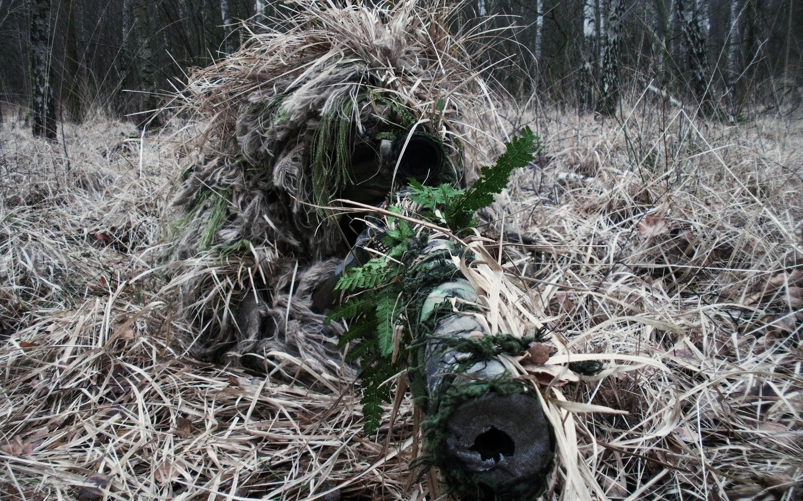 Sniper Ghillie Camo Suit Camouflage HD Wallpapers Epic Desktop 1600x1000
