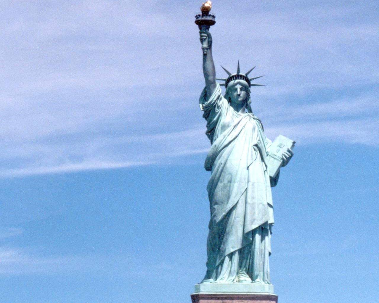 Statue of Liberty Silhouette Statue of Liberty Night Wallpaper Statue 1280x1024