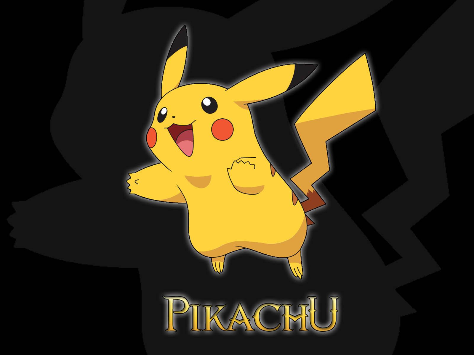 the Pikachu Pokemon Wallpapers Pikachu Pokemon Desktop Wallpapers 1600x1200