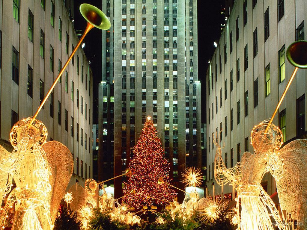Download Christmas In New York Wallpaper Wallpaper 1024x768