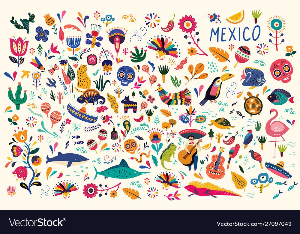 Mexico background Royalty Vector Image   VectorStock 1000x780