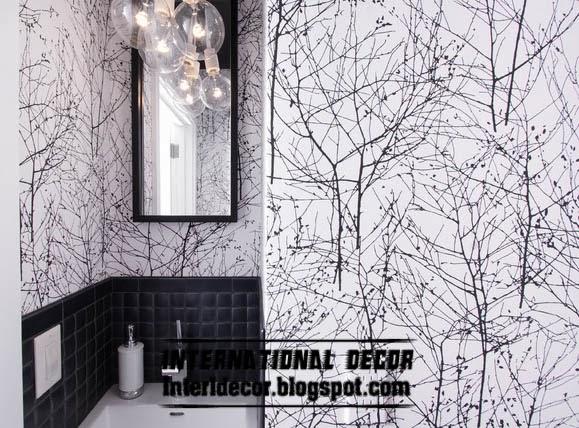 Black and white wallpaper unique design for modern interior 579x428