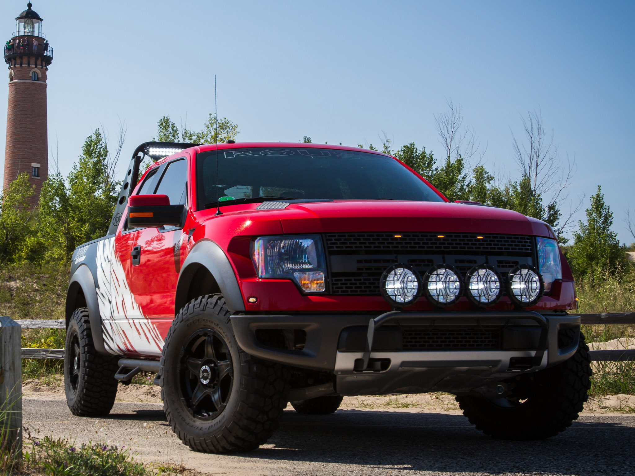 2012 Roush Ford F 150 SVT Raptor 4x4 muscle truck wallpaper background 2048x1536