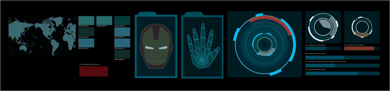 Jarvis Animated Wallpaper Jarvis themed animated 1502x352